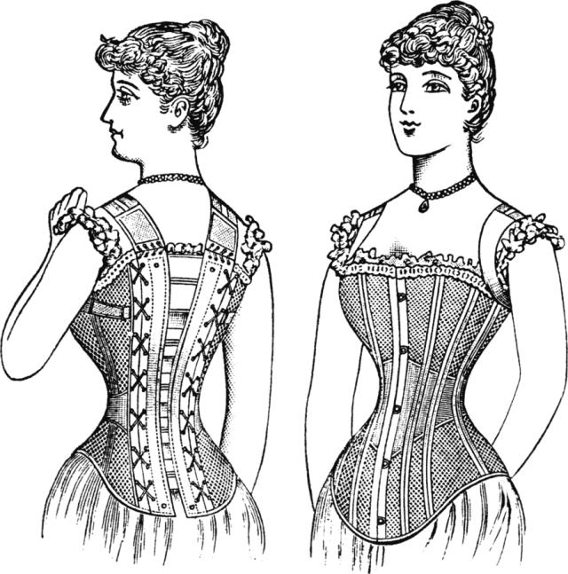 summer corset 1890