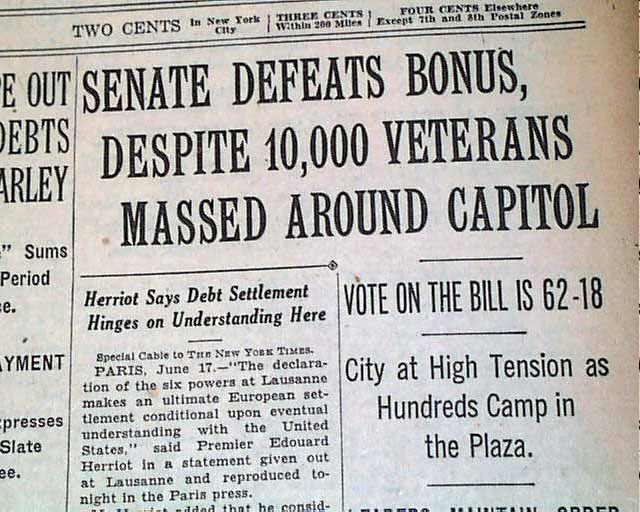 Image result for bonus army communists headlines